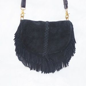 NWOT MINNETONKA Suede Leather Fringe Purse Bag